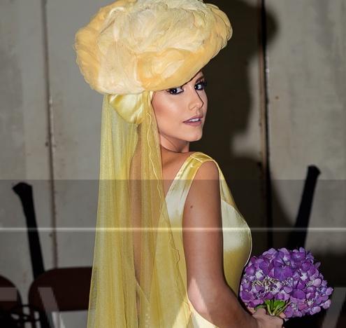 La actriz panameña, Andrea Pérez, formó parte de las modelos de Pilar Sáinz. La Crítica Panamá