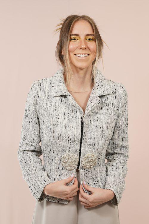 Chaqueta Tweed mujer