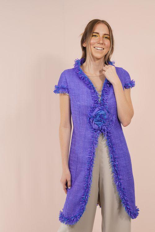 Levita tweed azulón
